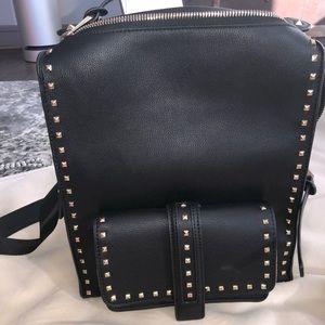 Handbags - Black Studded Backpack